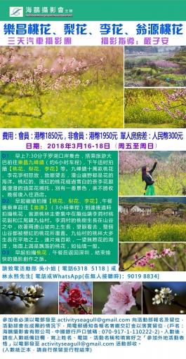 樂昌桃花, 梨花, 李花及翁源桃花三天攝影團